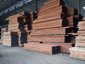 Air drying Keruing blanks
